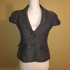 The Limited dark blue & white short sleeve blazer